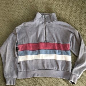 Women's Pink  Rose 3/4 zip sweatshirt